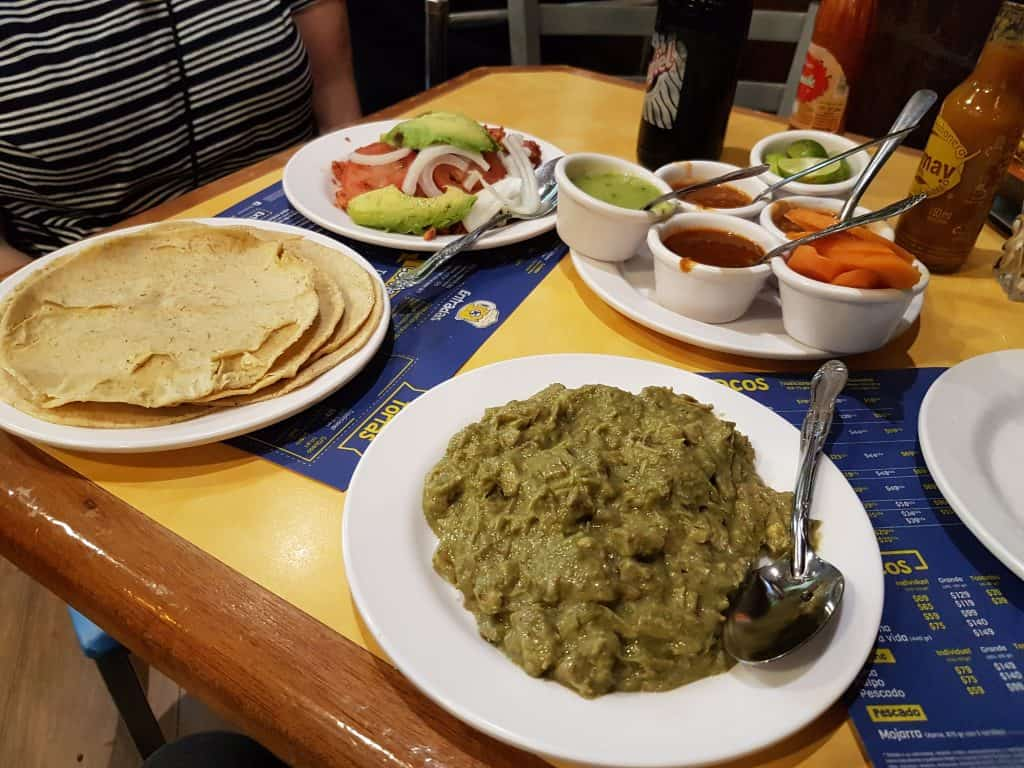 Traditional Mexican Food in Mexico City, Tortilla's and fillings