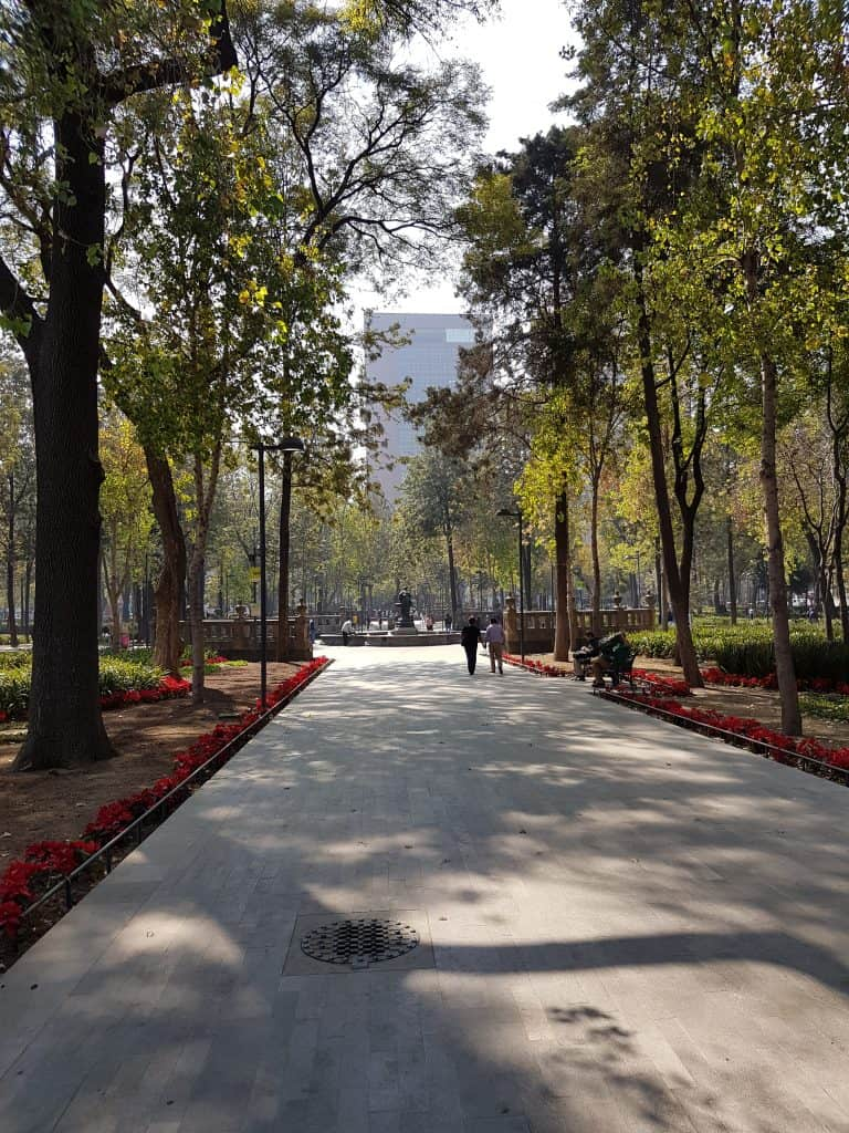 Alameda Park in the centre of Mexico City