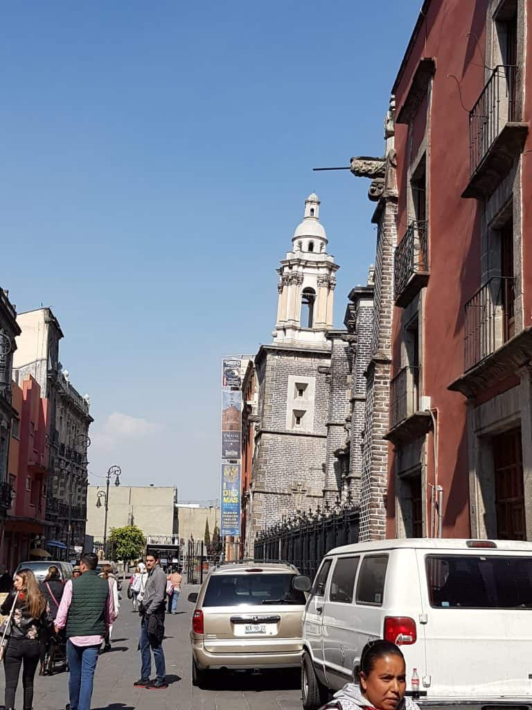 Cathedral in Mexico City showing lean of building sinking