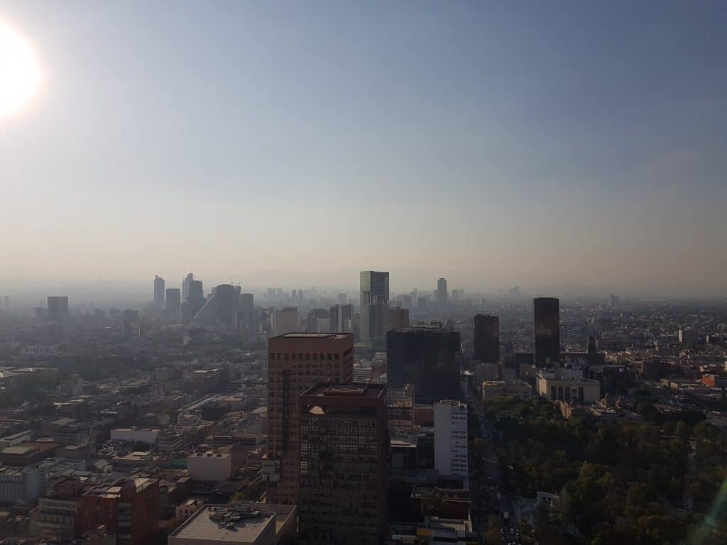 Mexico City as seen from the top of the Latin Tower
