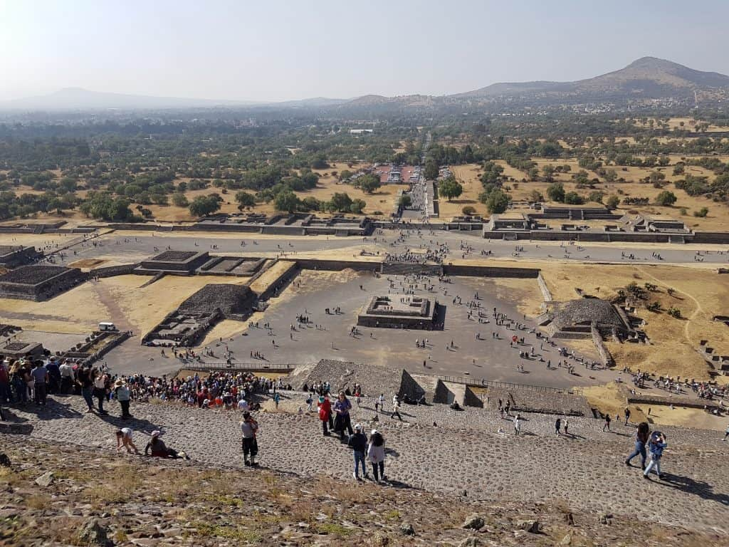 Teotihuacan from the top of the Pyramid of the Sun