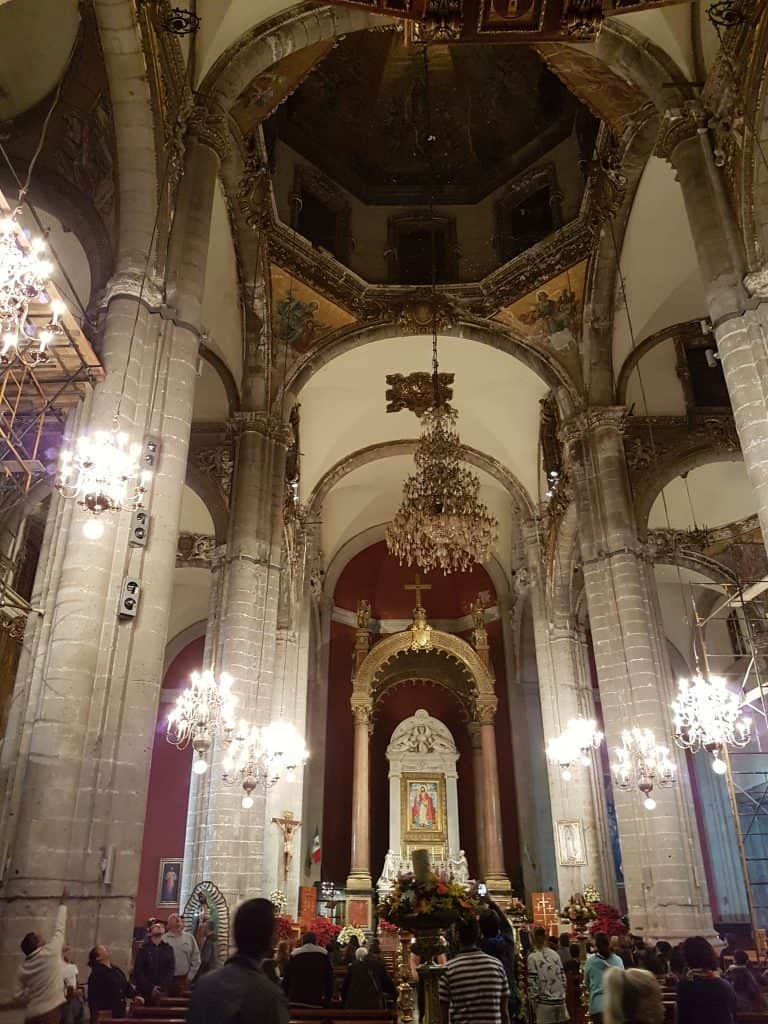 Inside the Basilica of the Virgin Mary