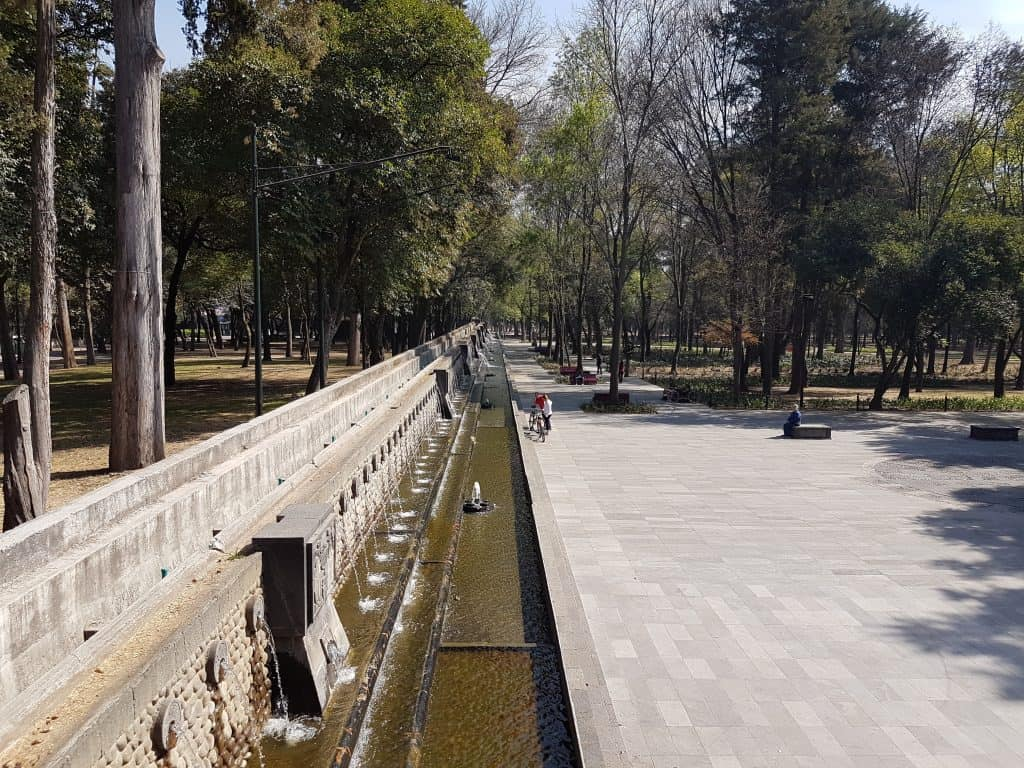 Water feature in Chapultepec Park, Mexico City