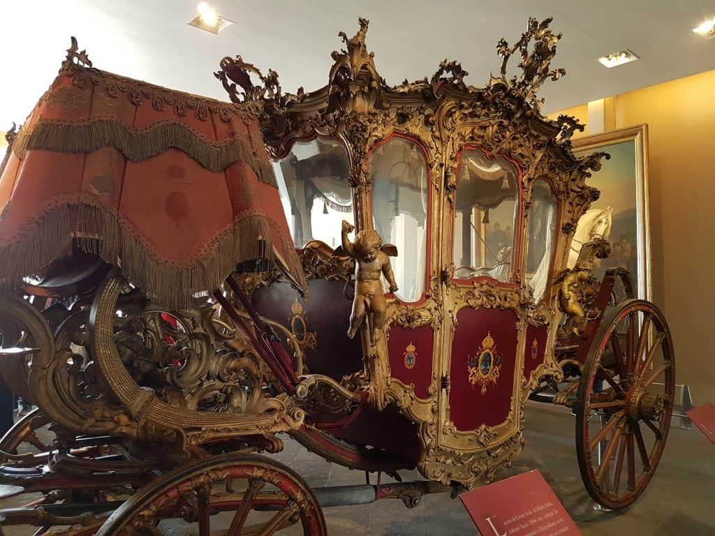 Original carriage on display in Chapultepec Castle