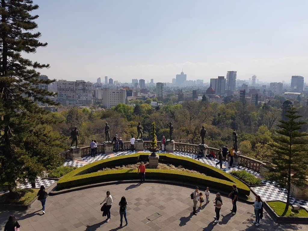 Mexico City from the grounds of Chapultepec Castle