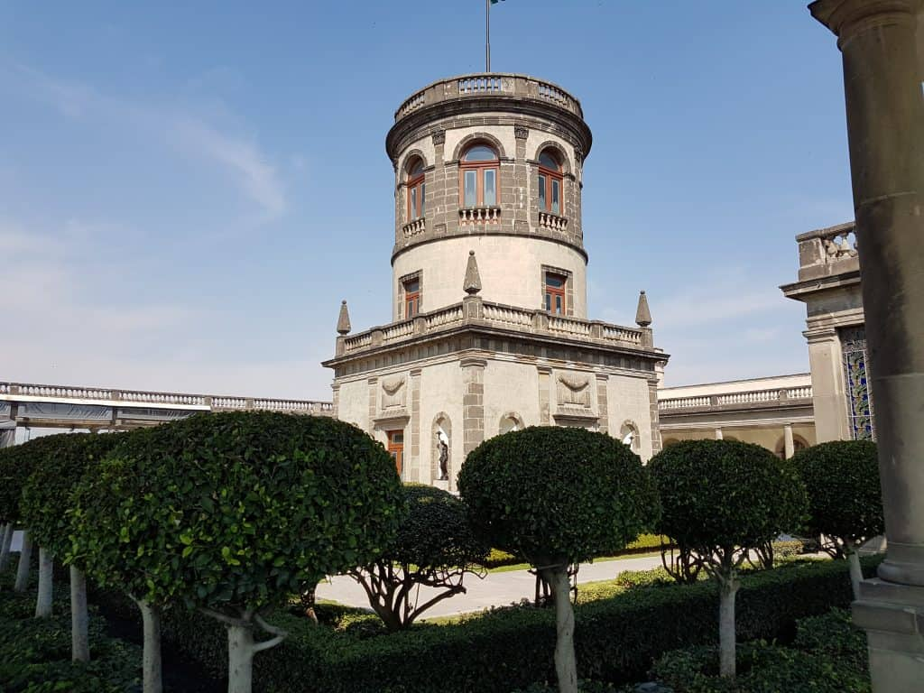 Roof of Chapultepec Castle, Mexico City