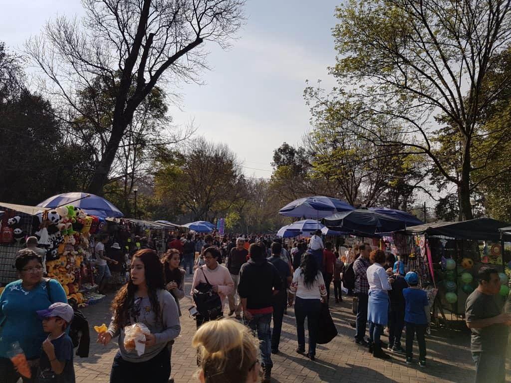 Markets in Chapultepec Park, Mexico City