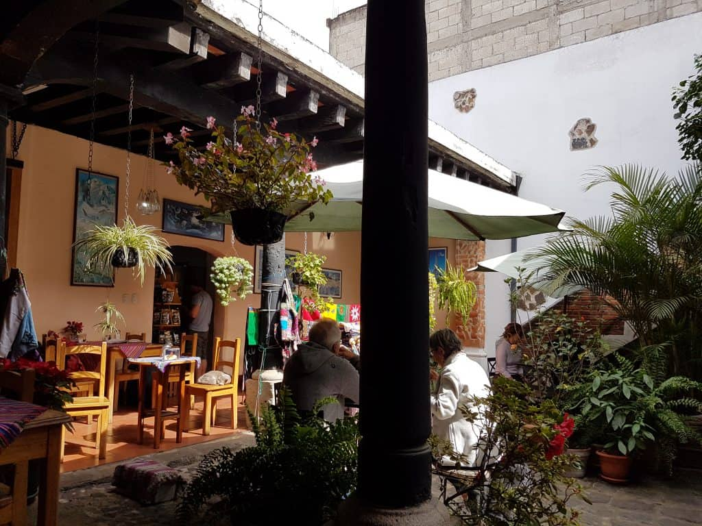 Courtyard of Fernando's in Antigua Guatemala
