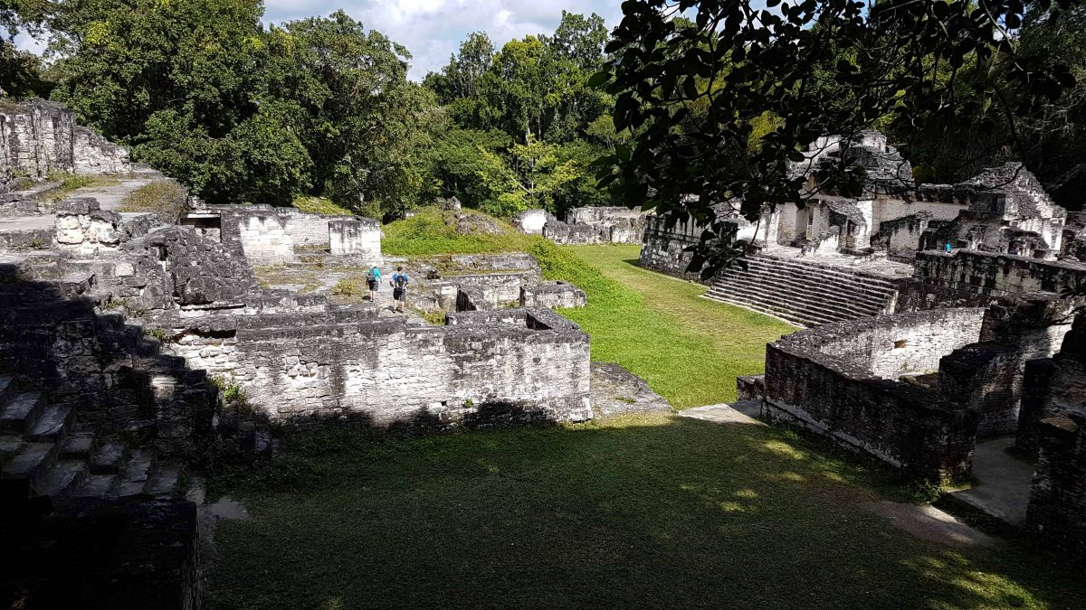 View from within the walls of the Central Acropolis at Tikal