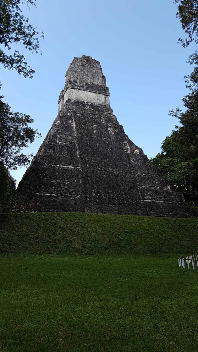 Temple I at Tikal, known as the Big Jaguar, was built in 700 AD. The Governor who built it lies in a tomb within.