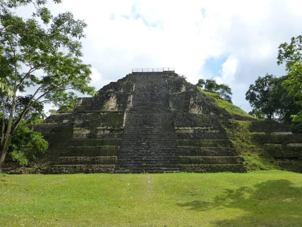 The Great Pyramid at Tikal is the oldest building at Tikal, Guatemala