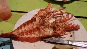 Grilled Lobster in Caye Caulker