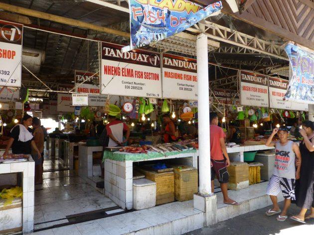 Fish market in the centre of the D'Talipapa, Boracay Philippines