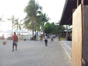 the White Beach strip by day