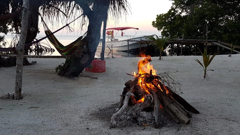 Bonfire on the Beach on Caye Caulker