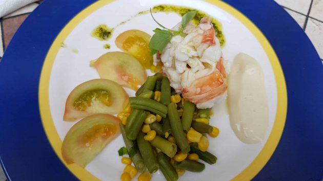 Lobster salad served in a small cafe in Havana, Cuba