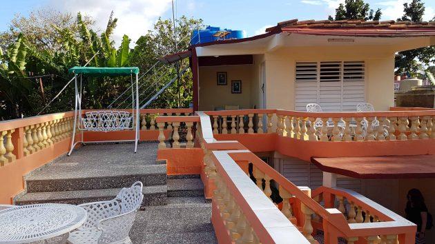 Rooftop of casa in Vinales, Cuba
