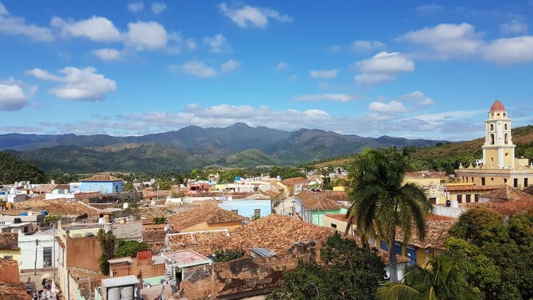 View of Trinidad Cuba from the top of the Museum of the revolution