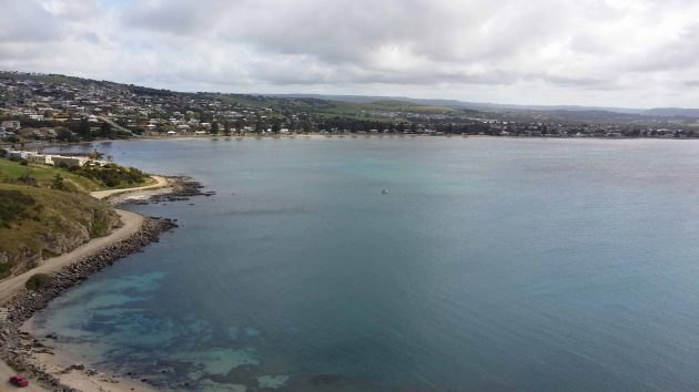Victor Harbour, South Australia, as seen from above
