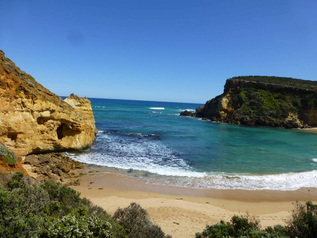 Swimming is not recommended at Childers Cove on the Great Ocean Road