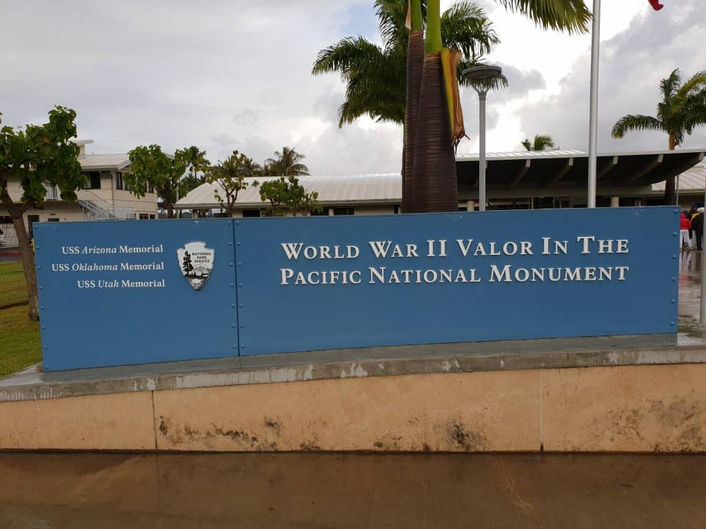 Entry to Pearl Harbor memorial site and vistors centre