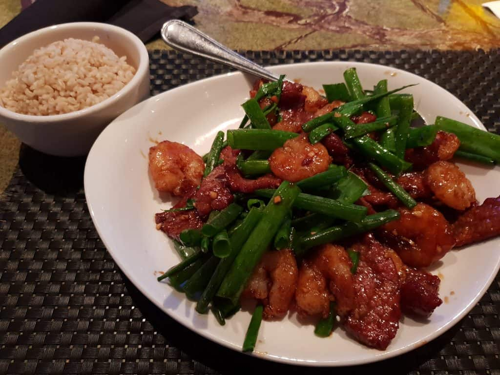 Surf and Turf meal at PF Changs