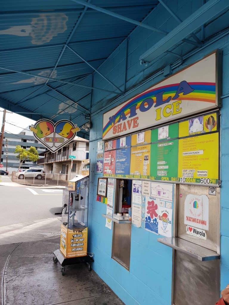 Waiola Shave Ice storefront, Honolulu