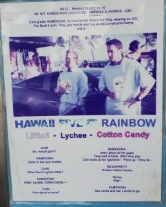 Hawaii 5-0 flavour Shaved Ice, as featured in Hawaii 5-0