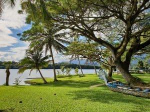 Kualoa's lake is a popular choice for weddings