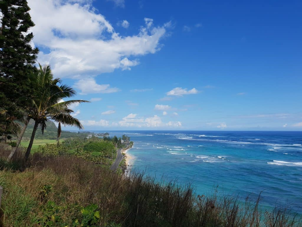 Ocean views from WW2 bunker Battery Cooper, Kualoa Ranch Oahu