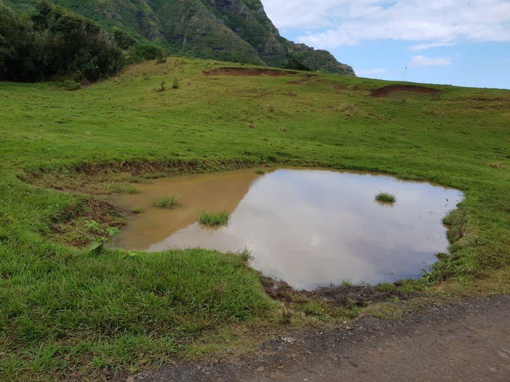 Godzilla footprint, Kualoa Ranch Oahu