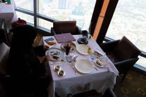 A meal at BUrj Khalifa United Arab Emirates by Sarah from Hungry Young Woman