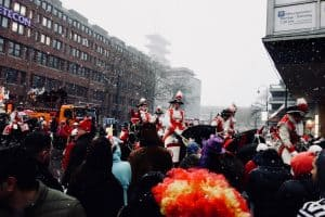 Snow falling on Carnival in Cologne, Germany by Nicola from See Nic Wander
