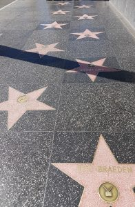 Stars on the Hollywood Walk of Fame on Hollywood Boulevard