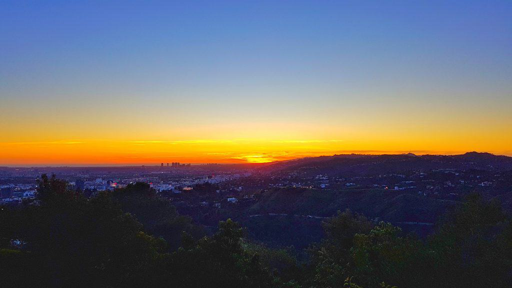 Sunset over the City of Angels from Griffith Park