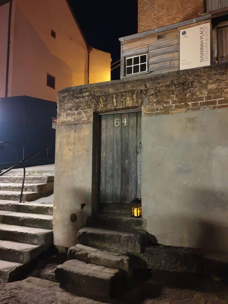 Number 64 Susannah Place, The Rocks, on Lantern Ghost Tour Sydney