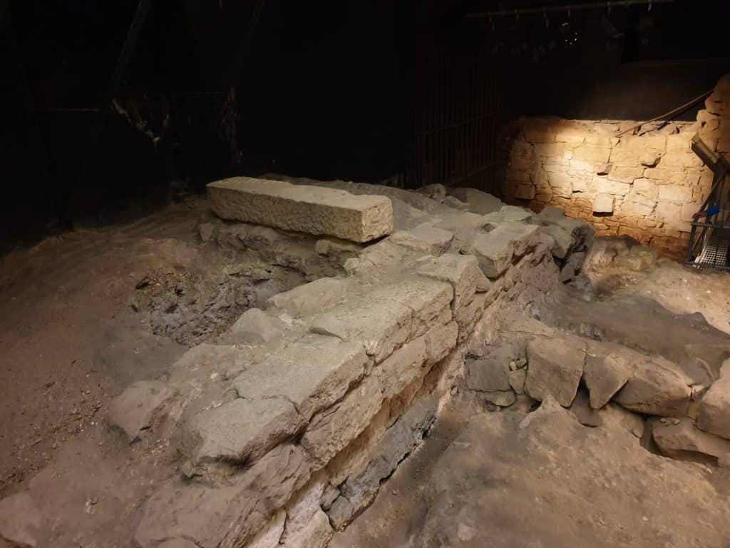 Foundations of early 1800's cottage at Millers Point, on Lantern Ghost Tour Sydney