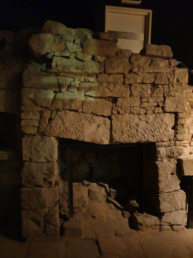 Early 1800's fireplace in cottage ruins at Millers Point