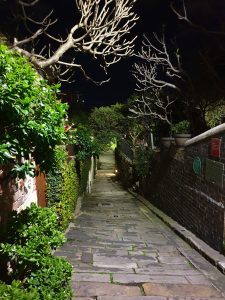 Alley by night in The Rocks, on Lantern Ghost Tour Sydney