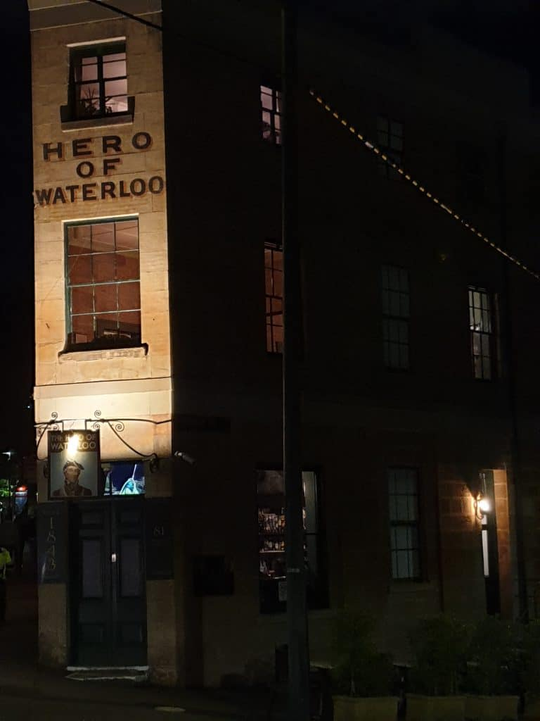 Australias most haunted pub, The Hero of Waterloo, on Lantern Ghost Tours Sydney