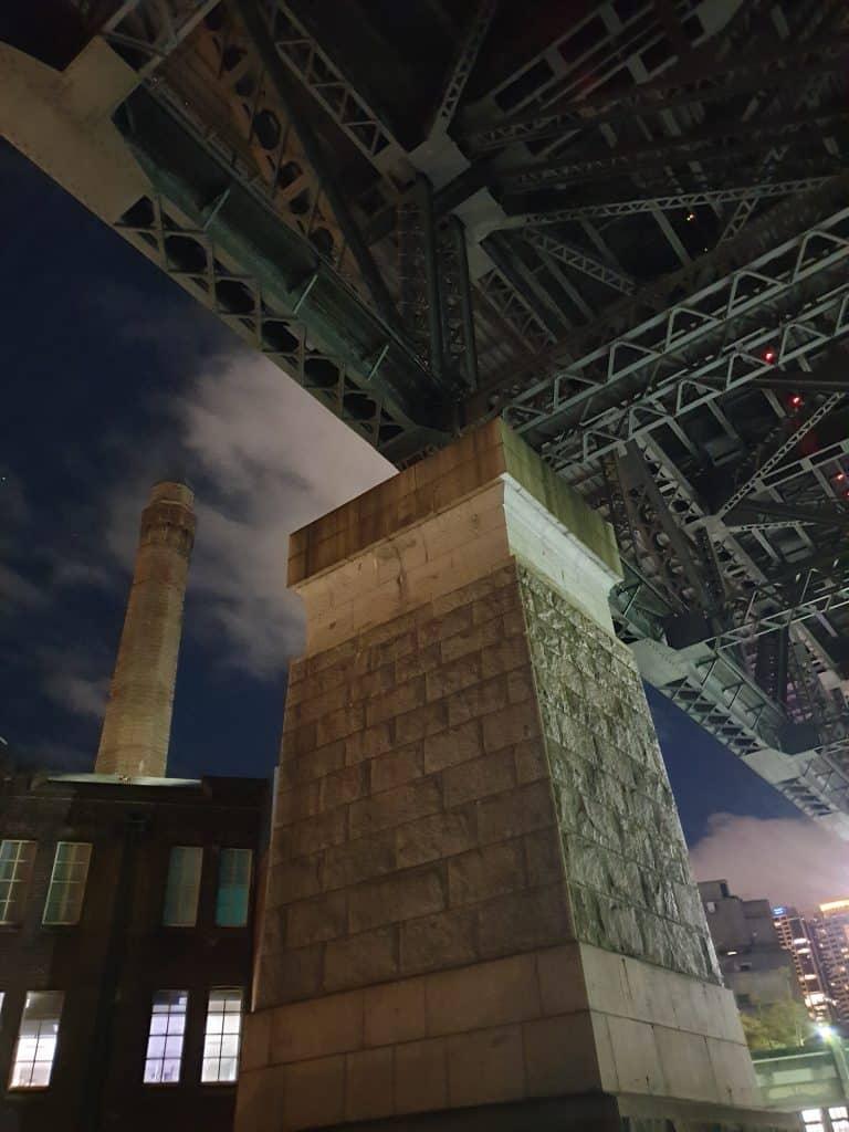 Under the Sydney Harbour Bridge at night on Lantern Ghost Tour Sydney