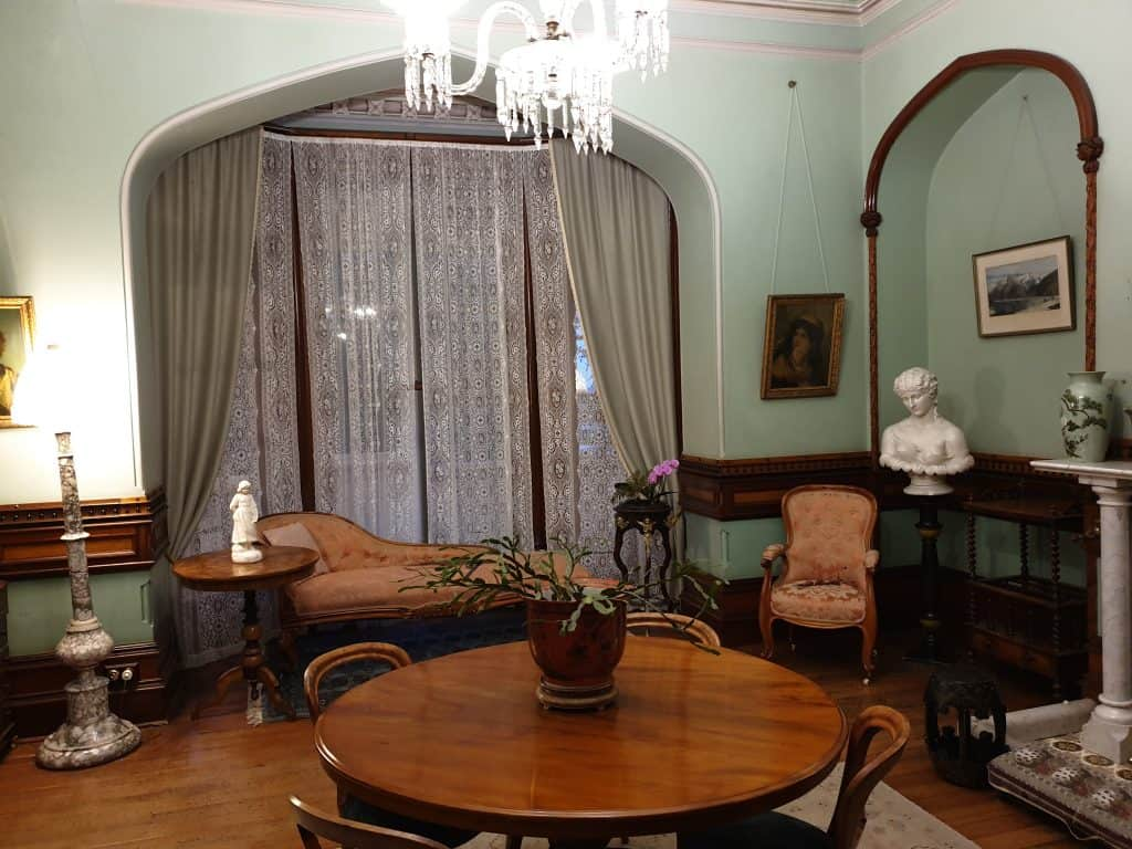 Sitting room in Larnach Castle