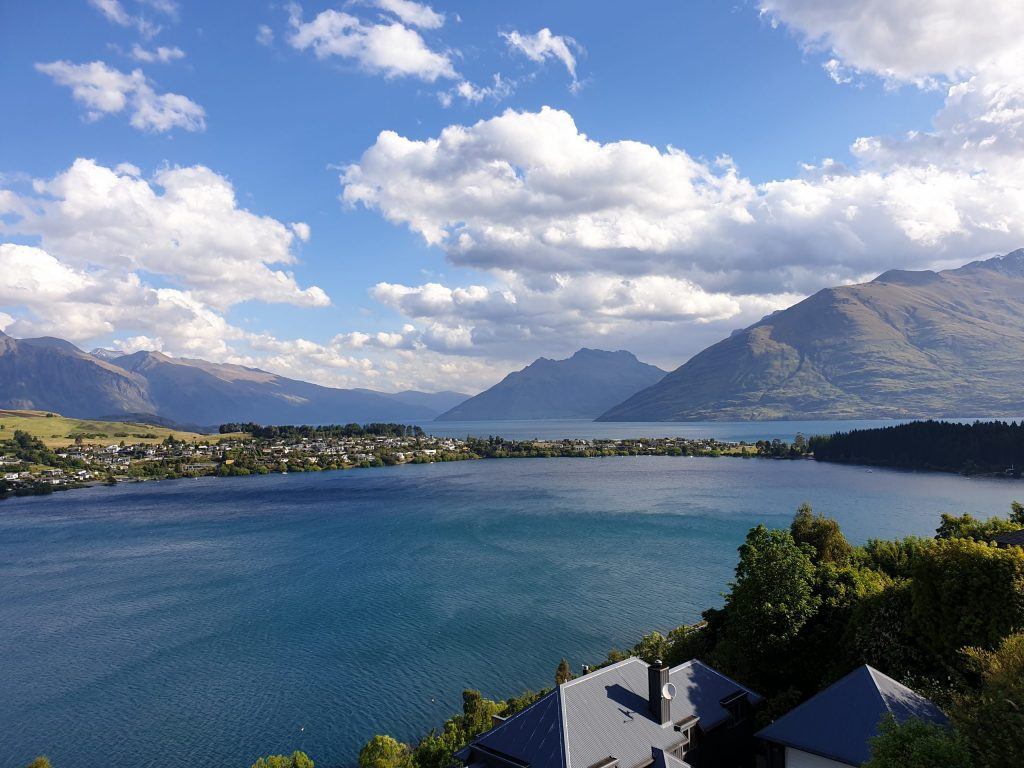 Lake Wakatipu as seen from the balcony of Queenstown Airbnb