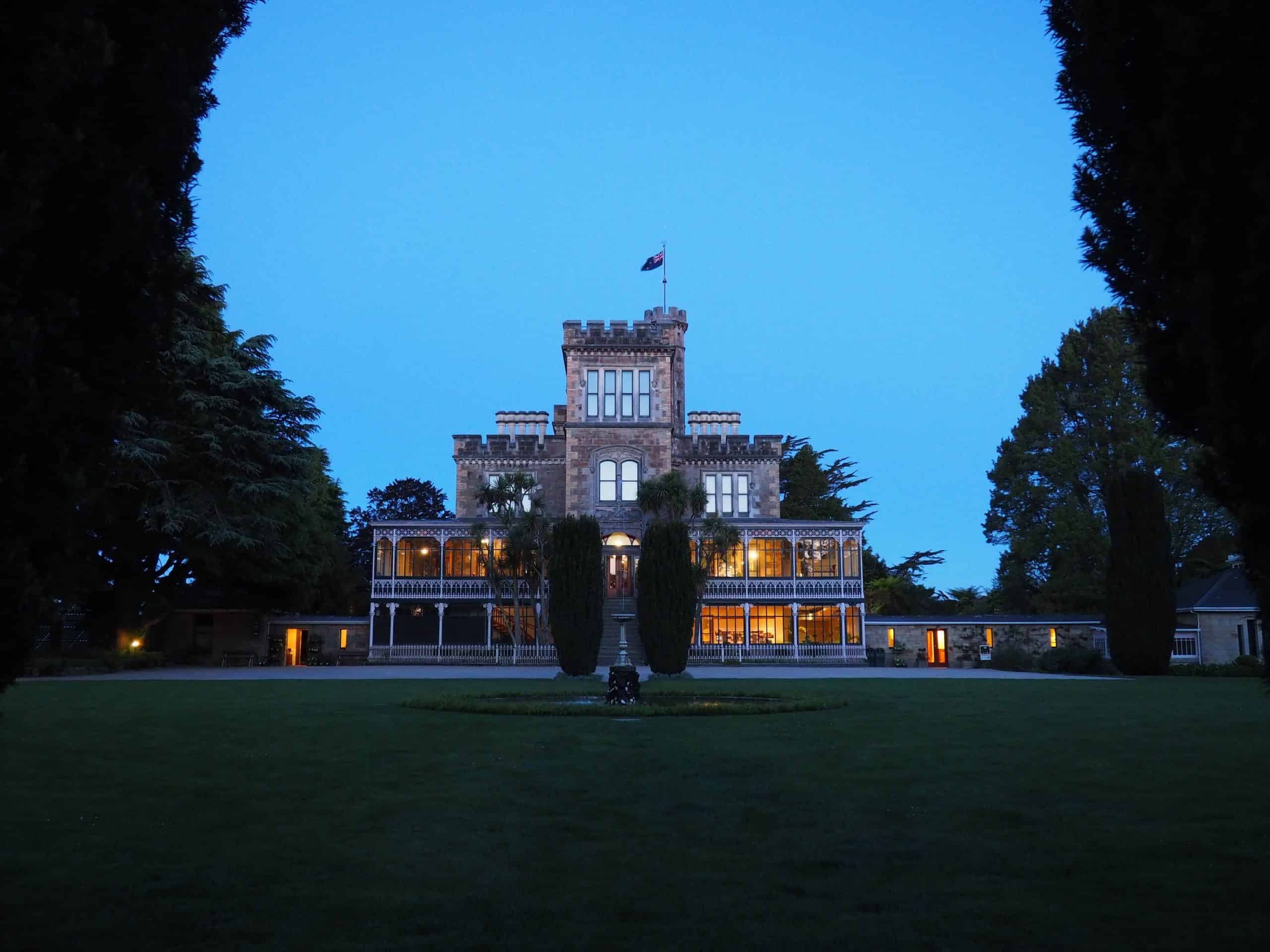 Larnach Castle in the late evening