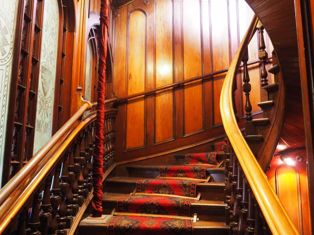 Internal staircase at Larnach Castle Dunedin