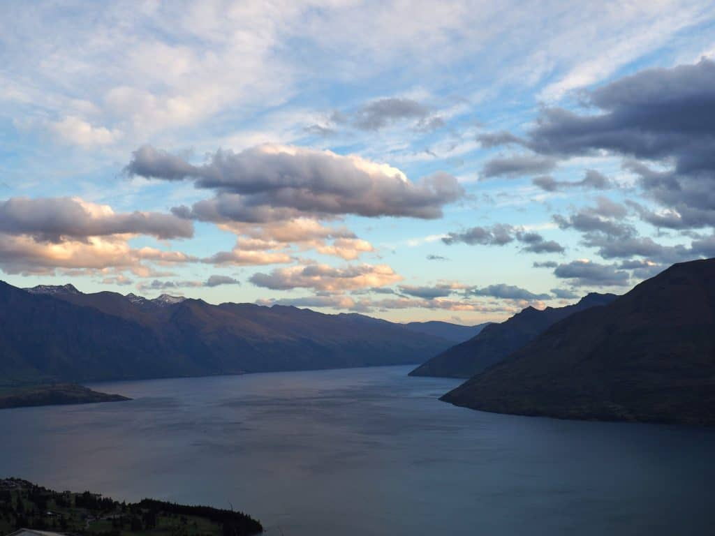 Lake Wakatipu, Queenstown, from the top of the Skyline Gondola