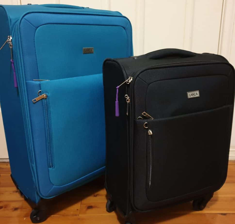 Medium and small size Lanza suitcases