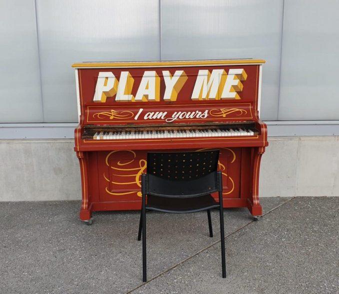 Public piano at Christchurch airport, New Zealand