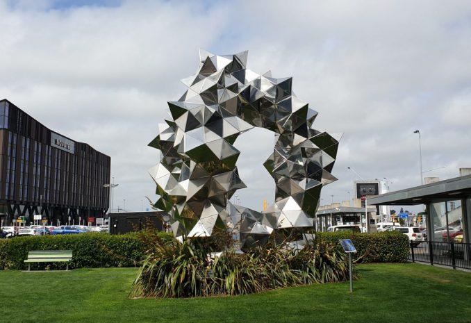 Sculpture at Christchurch airport, New Zealand