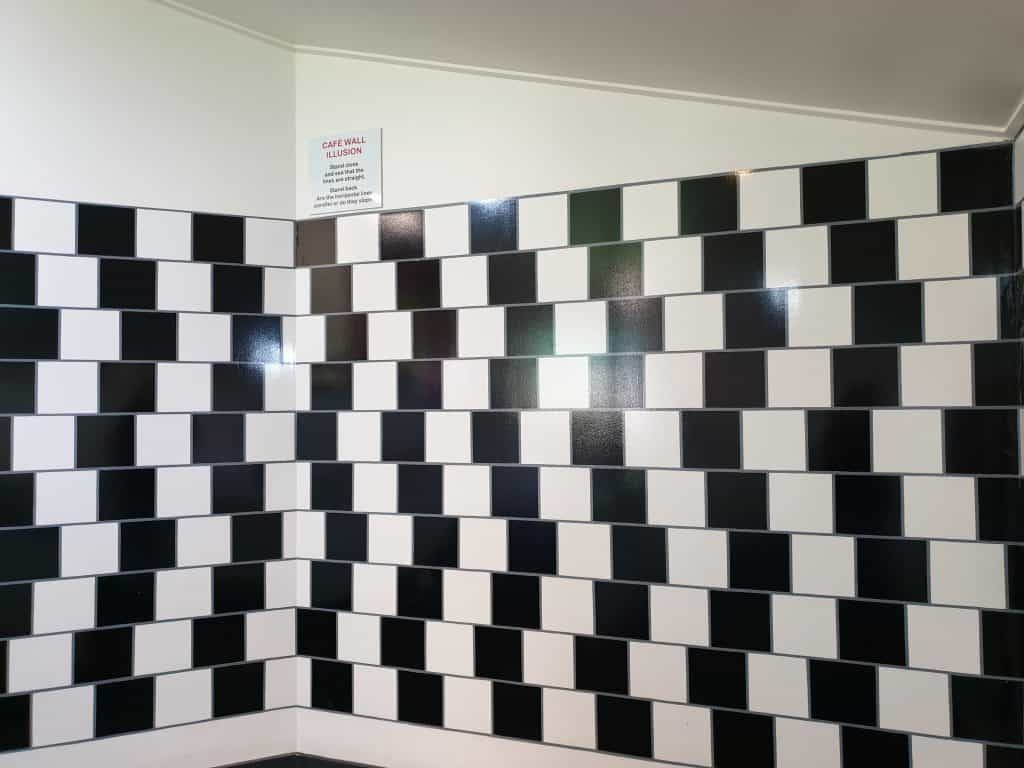 Cafe Wall illusion at Puzzling World Wanaka
